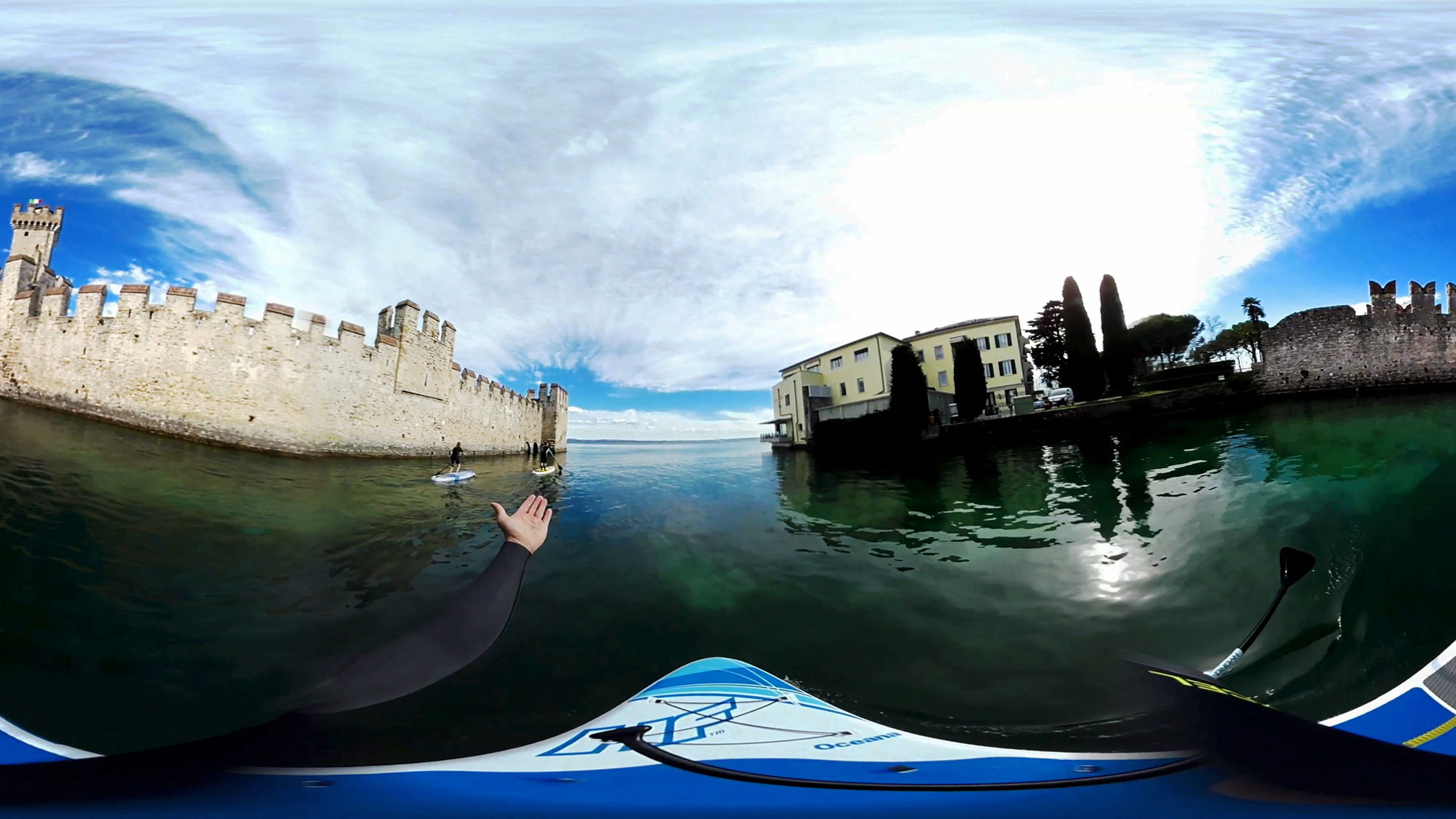 video immersivo realtà virtuale stand up paddling